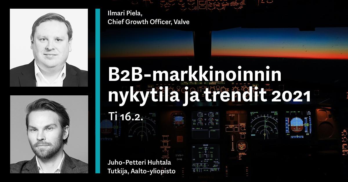 Valve-webinaari: B2B-markkinoinnin nykytila ja trendit 2021